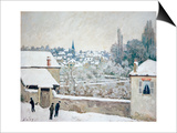 Winter in Louveciennes Prints by Alfred Sisley