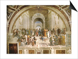 School of Athens, circa 1510-1512, One of the Murals Raphael Painted for Pope Julius II Print by  Raphael
