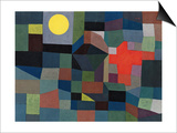 Fire During Full Moon, 1933 Prints by Paul Klee
