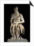 Moses, from the Tomb of Pope Julius II in San Pietro in Vincoli, Rome Posters by  Michelangelo Buonarroti