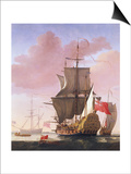 Galleon in Full Sail Prints by Jan Karel Donatus Van Beecq