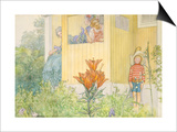 Dressing Up Poster by Carl Larsson