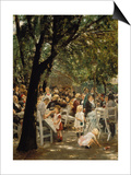 A Munich Beer Garden, 1883/84 Poster by Max Liebermann