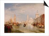 Venice, Dogana and S. Giorgio Maggiore Print by J. M. W. Turner