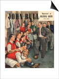 John Bull, Arsenal Football Team Changing Rooms Magazine, UK, 1947 Prints