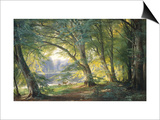 Forest Glade Prints by Carl Frederic Aagaard