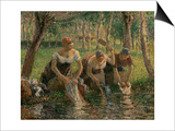 Les Lavandieres, the Washerwomen, 1895 Prints by Camille Pissarro