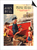 John Bull, Nautical Fishing Boats Magazine, UK, 1950 Posters