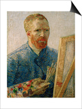 Self-portrait at the Easel, Beginning of 1888 Print by Vincent van Gogh