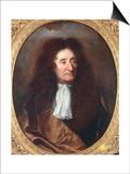 Jean de La Fontaine Print by Hyacinthe Rigaud