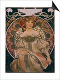 Plakatgestaltung (Urspruenglich Fuer F. Champenois, Jedoch Ohne Firmeneindruck), 1897 Prints by Alphonse Mucha
