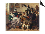 Cheerful Party (The Family of the Painter), about 1657 Posters by Jan Havicksz. Steen