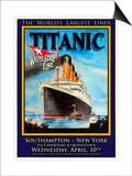 Titanic White Star Line Travel Poster 1 Prints by Jack Dow