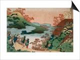 Sarumaru Daiyû Poster by Katsushika Hokusai