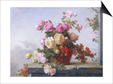 Still Life of Roses Prints by Paul Claude Jance
