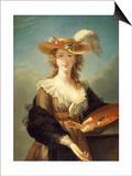 Portrait de Marie-Louise-Elisabeth Vigée-Le Brun (1755-1842), peintre Print by Elisabeth Louise Vigée-LeBrun