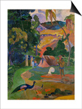 Matamoe (Peacocks in the Country), 1892 Posters by Paul Gauguin