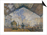 Gare Saint-Lazare, c.1877 Print by Claude Monet