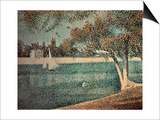 The Seine Near Grande Jatte Print by Georges Seurat