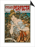 Poster Advertising 'Cycles Perfecta', 1902 Print by Alphonse Mucha