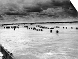 U.S. Reinforcements Wade Through the Surf as They Land at Normandy Art