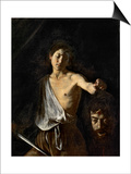 David with the Head of Goliath Prints by  Caravaggio