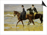 Riders on the Beach, 1903 Print by Max Liebermann
