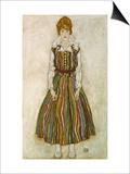 Edith Schiele, 1915 Print by Egon Schiele