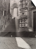 View of the Flight of Steps That Takes to the Piazza San Giovanni, Siena Posters by Vincenzo Balocchi