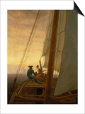On Board a Sailing Ship, 1819 Art by Caspar David Friedrich