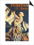 Puritan, Washing Powder Products Detergent, UK, 1910 Posters