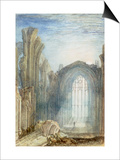 Melrose Abbey: an Illustration to Sir Walter Scott's 'The Lay of the Last Minstrel' Prints by William Turner
