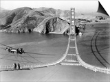 Workers Complete the Catwalks for the Golden Gate Bridge Posters
