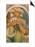 Blume, 1897 Prints by Alphonse Mucha