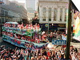 Mardi Gras Revellers Greet a Float from the Zulu Parade Prints