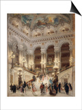 The Staircase of the New Opera of Paris Prints by Louis Beroud