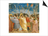 The Kiss of Judas, Mural Prints by  Giotto di Bondone