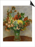 Flowers in a Vase, 1898 Poster by Pierre-Auguste Renoir