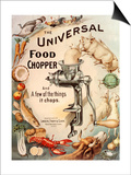 Food Choppers Mincers the Universal Cooking Appliances Gadgets, USA, 1890 Art