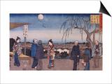 "Le saule qui se retourne ""Mikaeri Yanagi"" Prints by Ando Hiroshige"