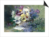 Pansies and Forget-Me-Not Prints by Albert Tibulle de Furcy Lavault