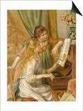 Jeunes filles au piano Prints by Pierre-Auguste Renoir