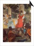 Cafe Concert at Les Ambassadeurs, 1875/77 Prints by Edgar Degas