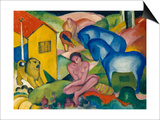 The Dream, 1912 Print by Franz Marc