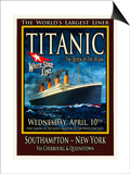 Titanic White Star Line Travel Poster 2 Poster by Jack Dow