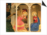 Cortona Altarpiece with the Annunciation, without predellas Art by  Fra Angelico