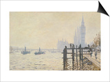 The Thames Below Westminster Print by Claude Monet