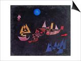 Abfahrt Der Schiffe, 1927 Art by Paul Klee