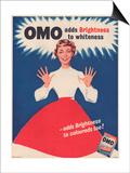 Omo, Washing Powder Detergent, UK, 1950 Prints