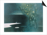 Stars from Sky to River Prints by Yunlan He